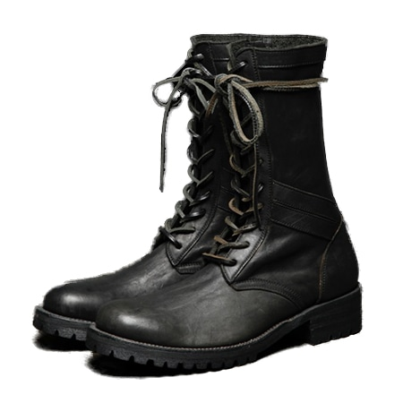 ISAMU KATAYAMA BACKLASH(イサムカタヤマバックラッシュ)  19AW JP SHOULDER GARMENT-DYED COMBAT BOOTS