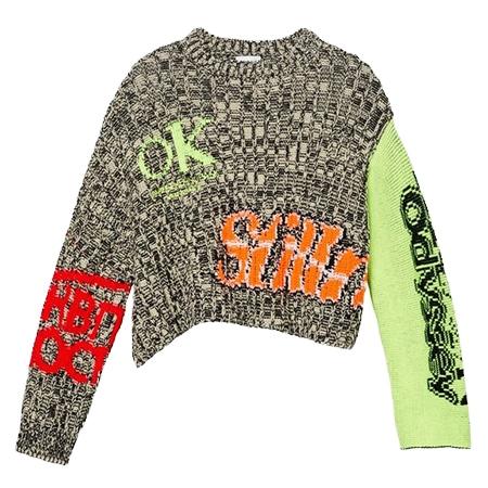 CALVIN KLEIN(カルバンクライン) 19AW コントラスト スリーブ セーター