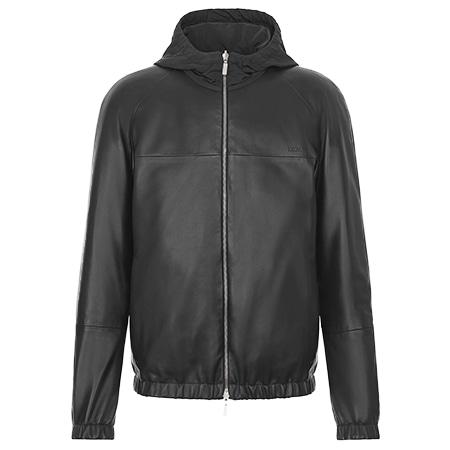 DIOR HOMME(ディオールオム) 20SS リバーシブル ラムスキンレザー/テクニカルファブリック フード付きジャケット