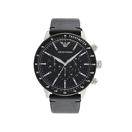 EMPORIO ARMANI(エンポリオアルマーニ)メンズクロノグラフ レザー 腕時計