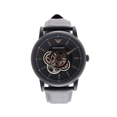 EMPORIO ARMANI(エンポリオアルマーニ)メンズ自動巻きウォッチ レザー 腕時計