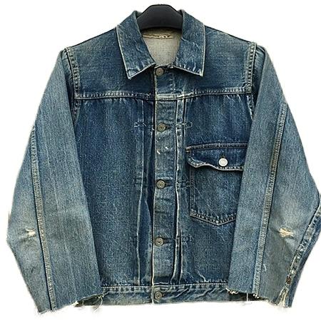 Levi's(リーバイス)40s~50s 506XX 1st デニムジャケット 針無しシンチバック 片面タブ 革パッチ BIGE