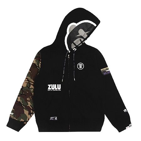 """AAPE BY A BATHING APE(エーエイプバイアベイシングエイプ) 19AW AAPER """"ZULU"""" ZIP-UP HOODIE"""