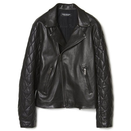 CHRISTIAN DADA(クリスチャンダダ) 19AW QUILTED SLEEVE LEATHER MOTORCYCLE JACKET
