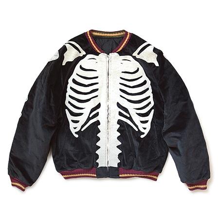 KAPITAL(キャピタル)別珍 BONE刺繍 スーベニアジャケット ブラック