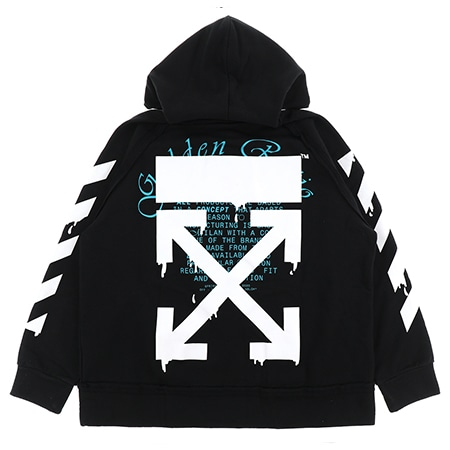 OFF-WHITE(オフホワイト)DRIPPING ARROWS INCOMP HOODIE / BLK WHT