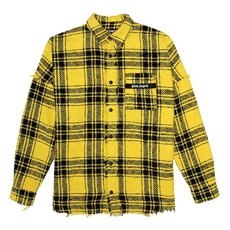 Palm Angels(パームエンジェルス)YELLOW CHECKED SHIRT