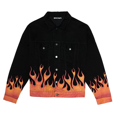 Palm Angels(パームエンジェルス)FLAMES DENIM JACKET