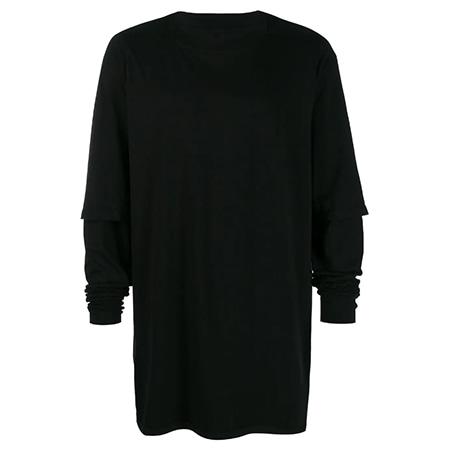 Rick Owens Drkshdw(リックオウエンスダークシャドウ)Hustler レイヤードスリーブ Tシャツ