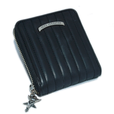 ALEX STREETER(アレックスストリーター) GOATHEAD ZIP AROUND WALLET STRIPE STITCH