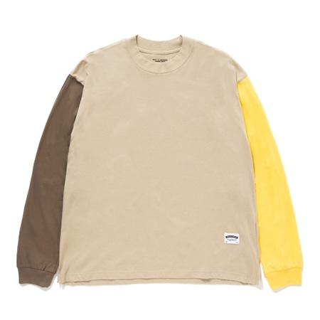 "BEDWIN & THE HEARTBREAKERS(ベドウィンアンドザハートブレイカーズ) L/S COLOR BLOCK T ""PATTERSON"""