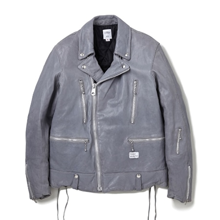 "BEDWIN & THE HEARTBREAKERS(ベドウィンアンドザハートブレイカーズ) DOUBLE RIDERS JACKET FD ""BUSHER"" GRAY"