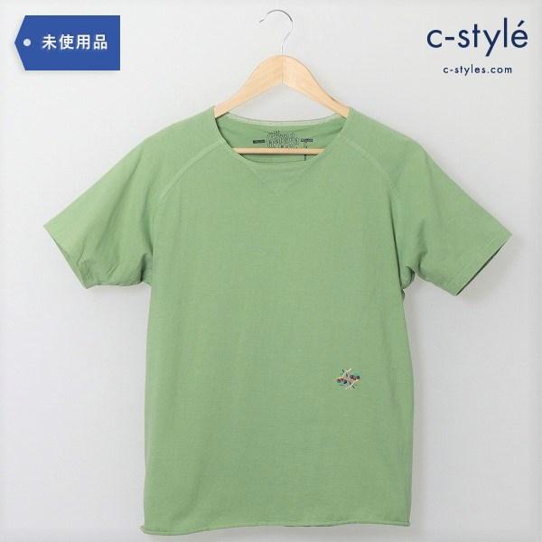 GERUGA(ゲルガ)ヘビーデューティ ラグランTシャツ size3(M) 緑 刺繍 タグ付き GR-C-74 トップス