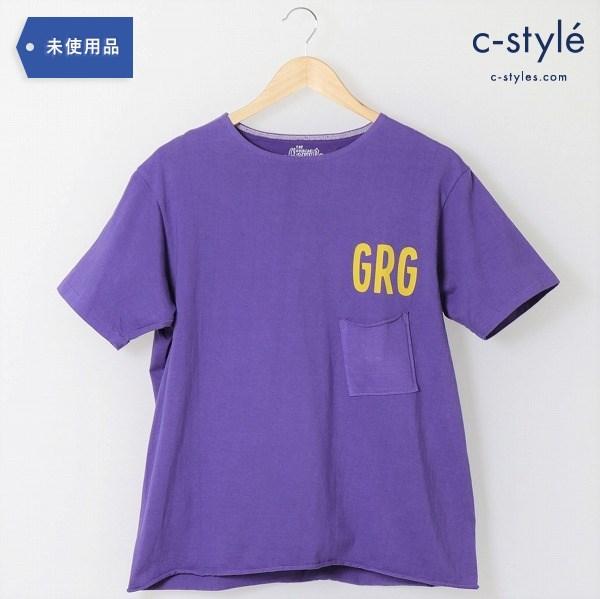 GERUGA(ゲルガ)ヘビーデューティ ポケットTシャツ size4(L相当) 紫 タグ付き GR-C-72 トップス