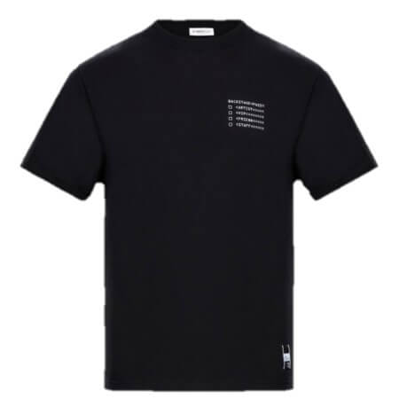 7 MONCLER FRAGMENT HIROSHI FUJIWARA(7モンクレールフラグメントヒロシ・フジワラ) バックステージTシャツ ブラック