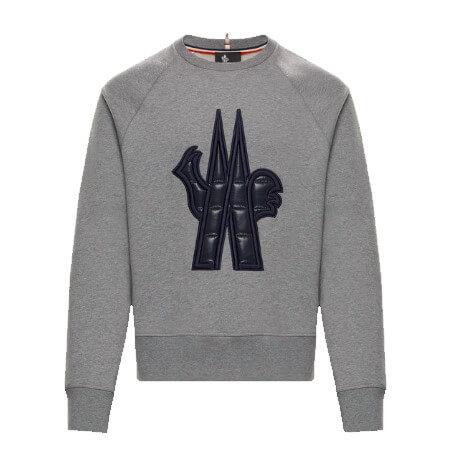 MONCLER GRENOBLE(モンクレール グルノーブル) スウェットシャツ ライトグレー