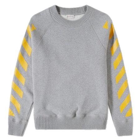 MONCLER O(モンクレールO) MONCLER×OFF WHITE 16AW バックプリントスウェット