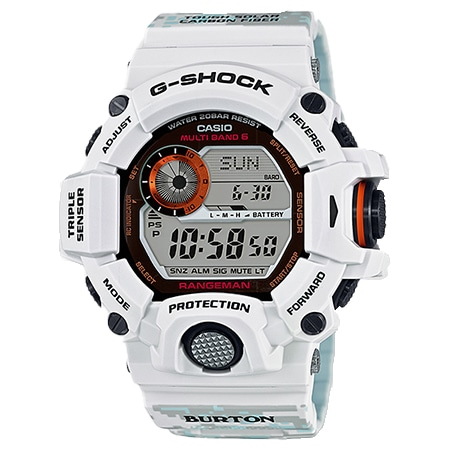G-SHOCK(Gショック)×BURTON(バートン) レンジマン GW-9400BTJ-8JR トリプルセンサー ホワイト
