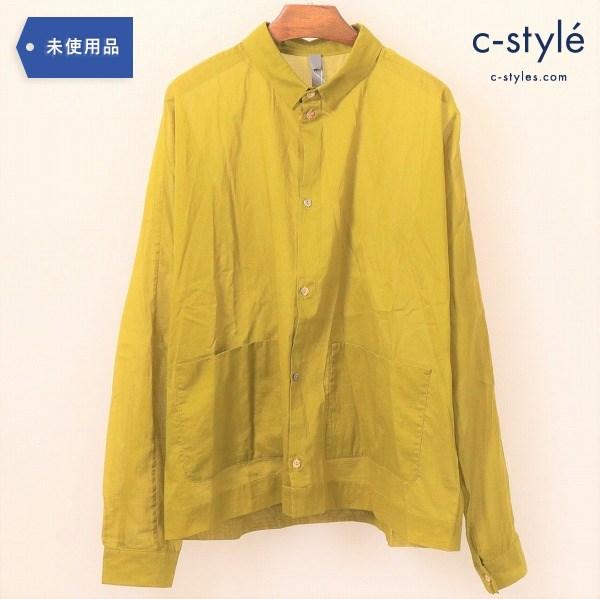 marvielab(マーヴィーラボ)長袖 コットン シャツ yellow 透け感 羽織り レイヤード 薄手 春夏