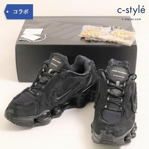 NIKE(ナイキ)×COMME des GARCONS(コムデギャルソン) W SHOX TL CDG  メンズ 27.5cm ブラック 黒
