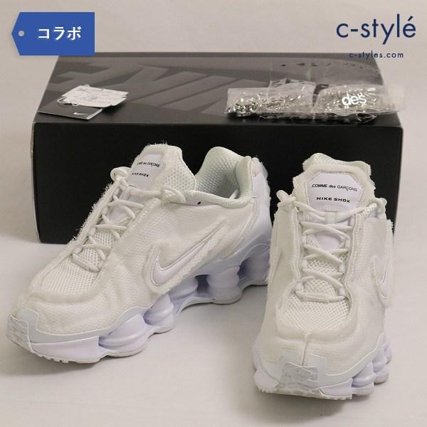 NIKE(ナイキ)×COMME des GARCONS(コムデギャルソン) W SHOX TL CDG  メンズ 27.5cm ホワイト 白
