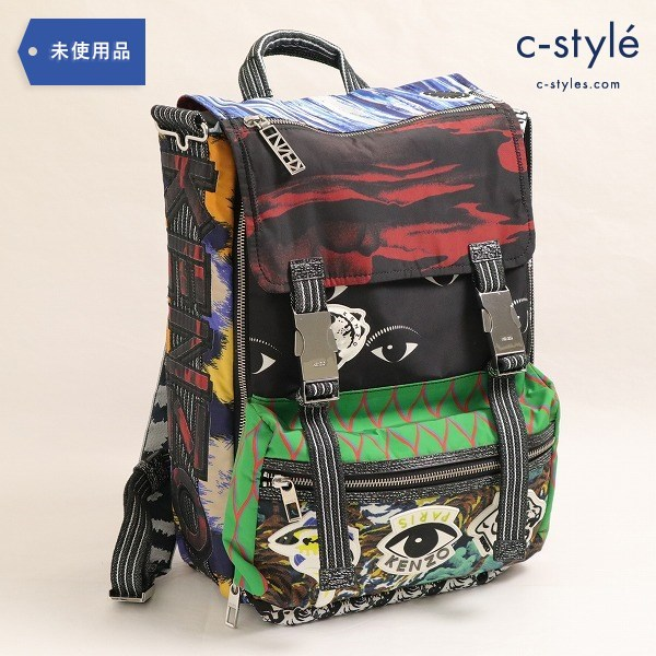 KENZO(ケンゾー) Printed nylon backpack プリント ナイロン バックパック タグ付き バッグ