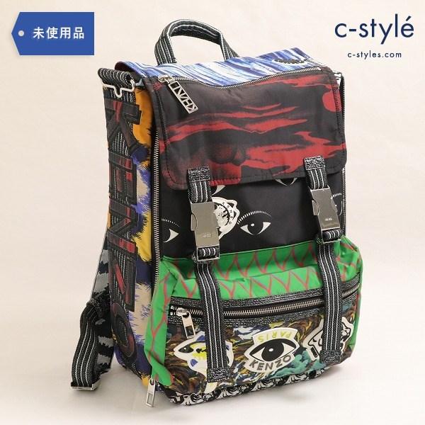 KENZO(ケンゾー) Printed nylon backpack プリント ナイロン バックパック タグ付き バッグ