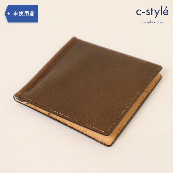 CYPRIS(キプリス)マネークリップ オイル シェル コードバン 5414 コーヒー ISETAM MEN'S 日本製
