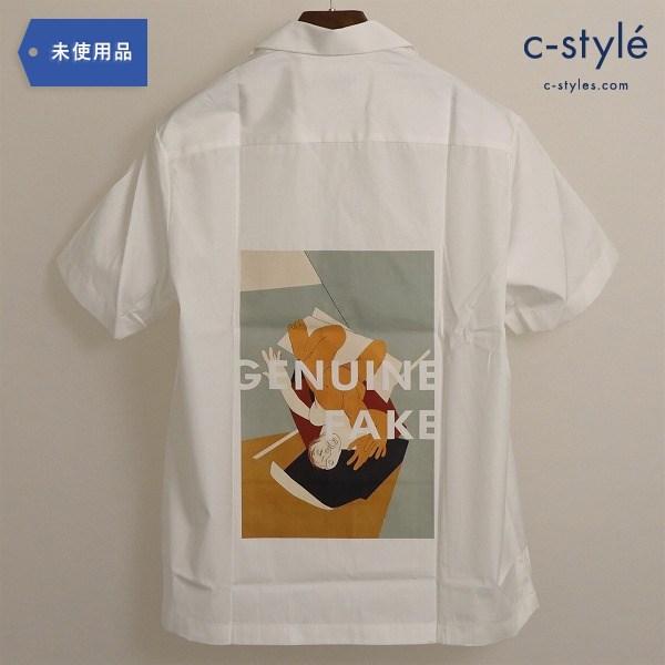 CMMN SWDN(コモンスウェーデン)Genuine Fake Boxy Shirt ボクシー シャツ 半袖 ホワイト タグ付