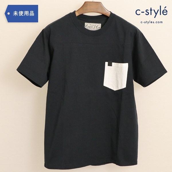 Eesett&Co(イイセットアンドコー)POCKET T-SHIRT ポケット Tシャツ ブラック タグ付 半袖