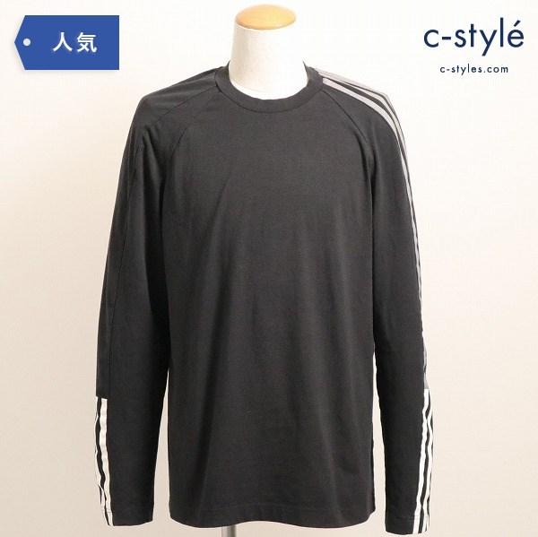 Y-3 ワイスリー adidas アディダス YOHJI YAMAMOTO クルーネック 長袖Tシャツ S 黒 DP0492