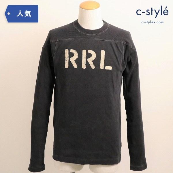 RRL ダブルアールエル BLACK INDIGO FOOTBALL KNIT JERSYフットボール スウェット シャツ 黒 S