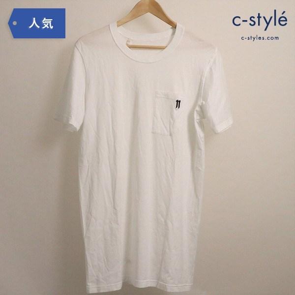 11 BY BORIS BIDJAN SABERI 半袖  ポケット Tシャツ TS5 F-1101 WHITE Sサイズ タグ付き 袋付き
