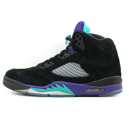 NIKE AIR JORDAN 5【ナイキ エアジョーダン5】  RETRO BLACK/NEW EMERALD-GRAPE ICE 136027-007