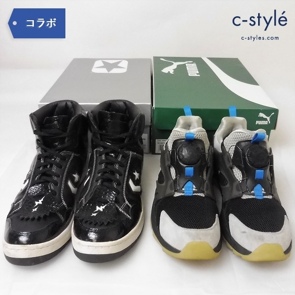 WHIZ LIMITED x mita sneakers 2足 PUMA DISC SWIFT TECH WM 28/CONVERSE WEAPON HI MS WL 27.5