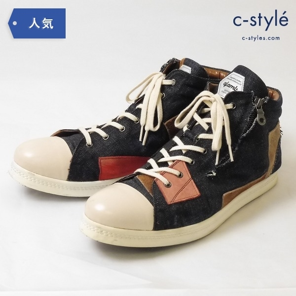 glamb グラム ACE sneakers エース スニーカー Indigo 28.5cm パッチワーク デニム