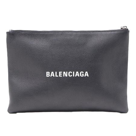 BALENCIAGA(バレンシアガ) ロゴ レザー クラッチバッグ