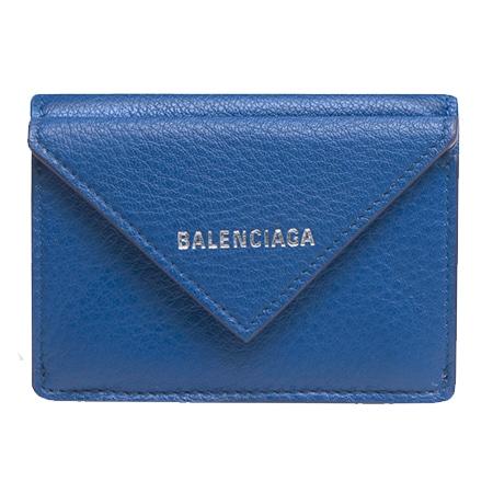 BALENCIAGA(バレンシアガ) ペーパー ミニ ウォレット ロイヤルブルー