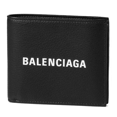 BALENCIAGA【バレンシアガ】 二つ折り財布 EVERYDAY ブラック 485108 DLQHN 1060 ノアール