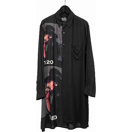 BLACK Scandal Yohji Yamamoto(ブラックスキャンダル ヨウジヤマモト) ポートレート ロングシャツ