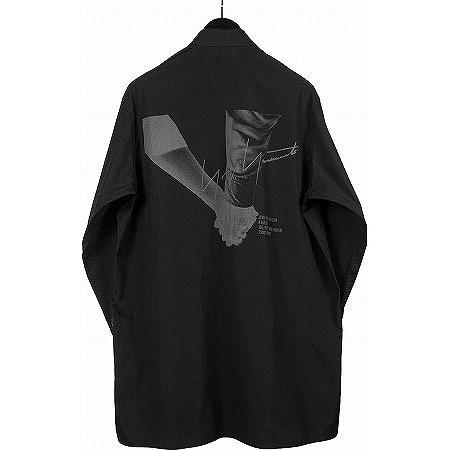 BLACK Scandal Yohji Yamamoto(ブラックスキャンダル ヨウジヤマモト) 手繋ぎプリント ブロードスタッフシャツ