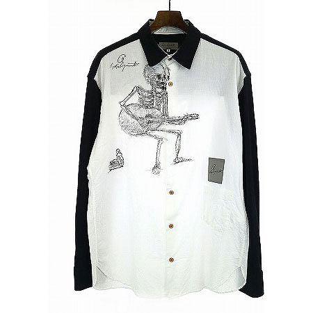 Yohji Yamamoto POUR HOMME(ヨウジヤマモト プールオム) デッサンプリントシャツ