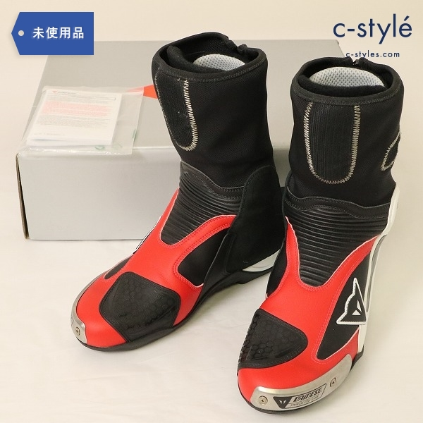 Dainese ダイネーゼ AXIAL PRO IN BOOTS 42 レーシングブーツ 27.5cm WHITE/DUCATI-RED