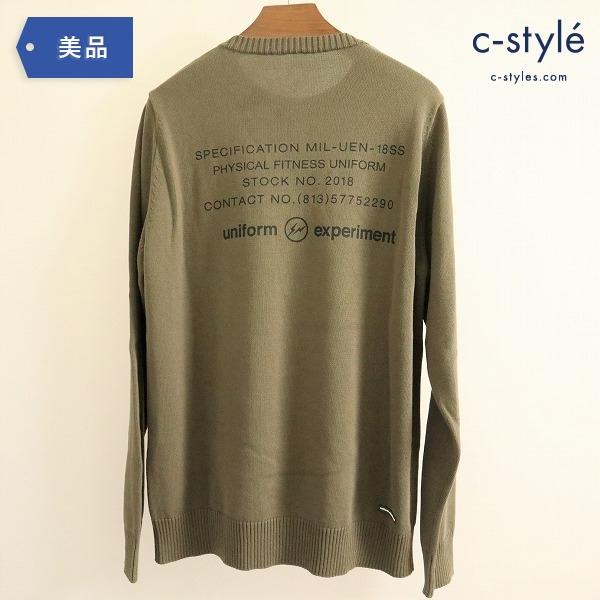 uniform experiment ユニフォームエクスペリメント 18SS コットン クルーネック セーター size2