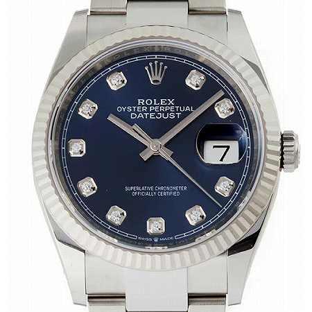 ROLEX(ロレックス) デイトジャスト 126234G 10Pダイヤモンド ブルー