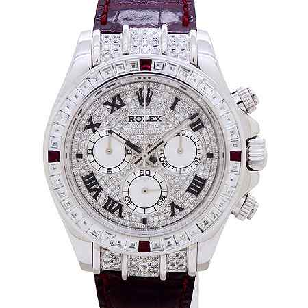 ROLEX(ロレックス) デイトナ バゲットダイヤモンド 18Kホワイトゴールド 116519(116599/4RU/ZER仕様)
