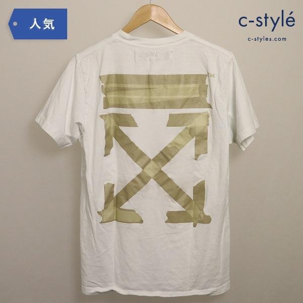 OFF-WHITE オフホワイト TAPE ARROWS Tシャツ ホワイト Mサイズ ダイアナゴル