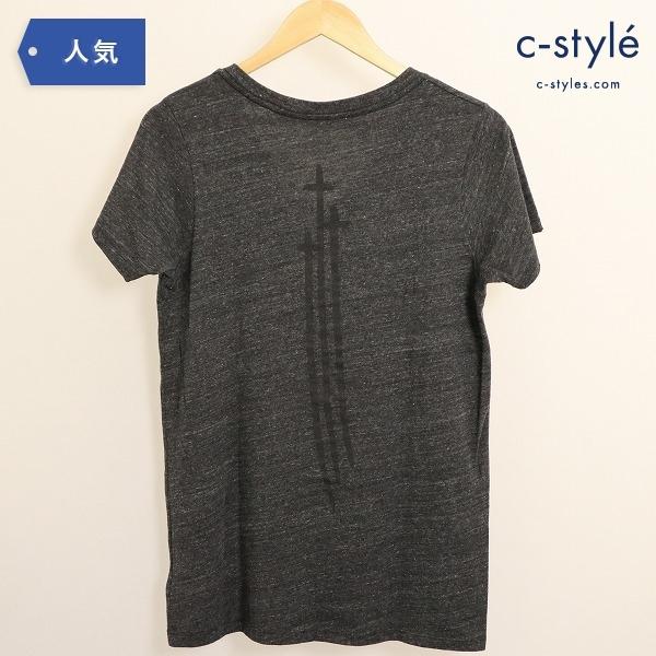 CHROME HEARTS クロムハーツ Vネック Tシャツ 半袖 ダークグレー XLサイズ プリント クロス