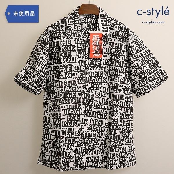 BLACK EYE PATCH ブラックアイパッチ 半袖 オープンカラーシャツ XL 総柄