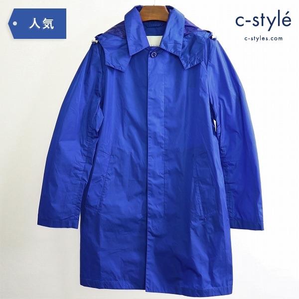 MACKINTOSH マッキントッシュ ナイロン ステンカラー コート size34 BLUE フード着脱可 英国製